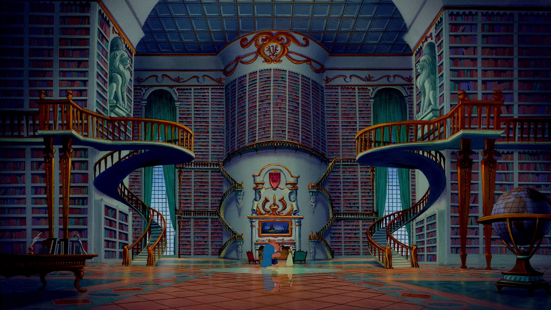 Beauty and the Beast - The Library