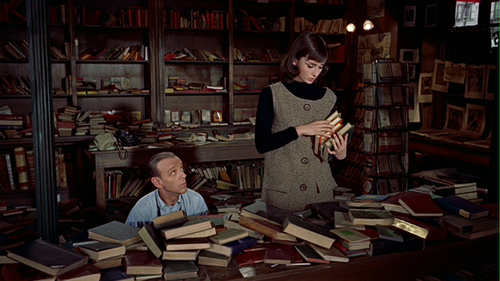 Funny Face with Audrey Hepburn - The Bookshop-Library Scene