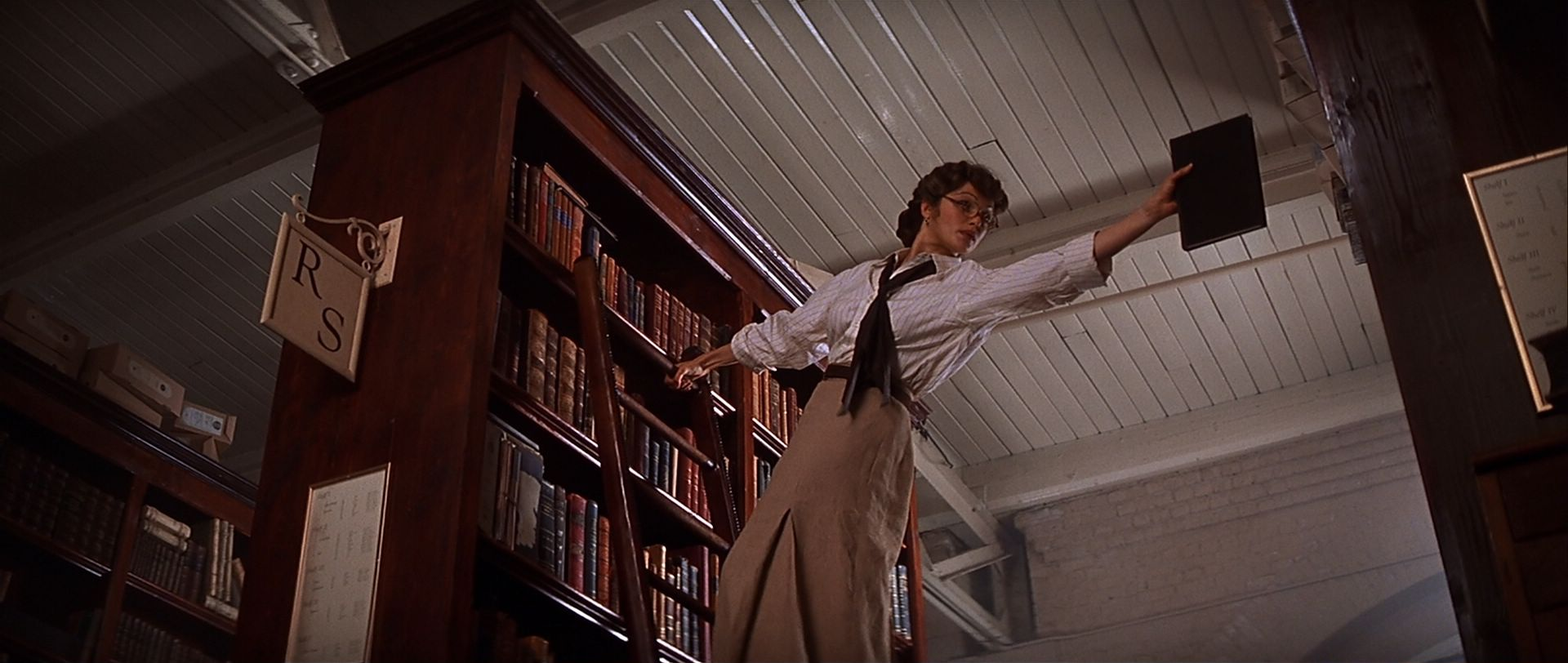 Evie from the Mummy in the Library Scene