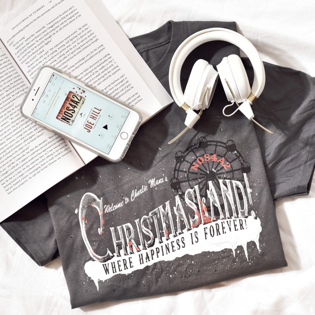 the nocturnal readers box review - december - NOS4A2 joe hill tshirt