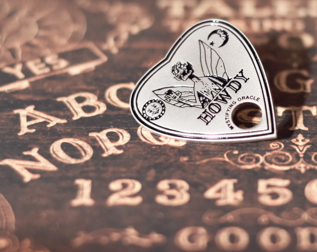the nocturnal readers box review - december - planchette ouija board pin