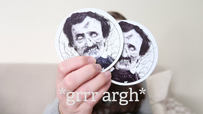tnrb - poe coasters - the nocturnal readers box january 2018